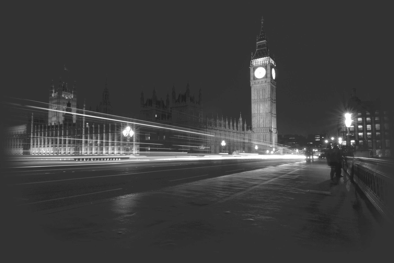 Executive chauffeur car providing transport to Big Ben in London, England